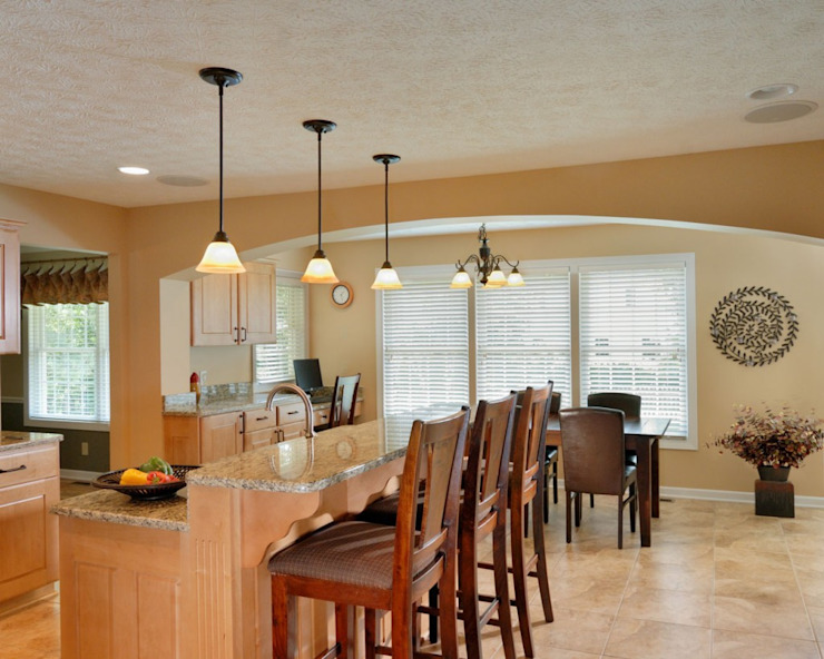 Arched Opening Modern Dining Room by New Leaf Home Design Modern