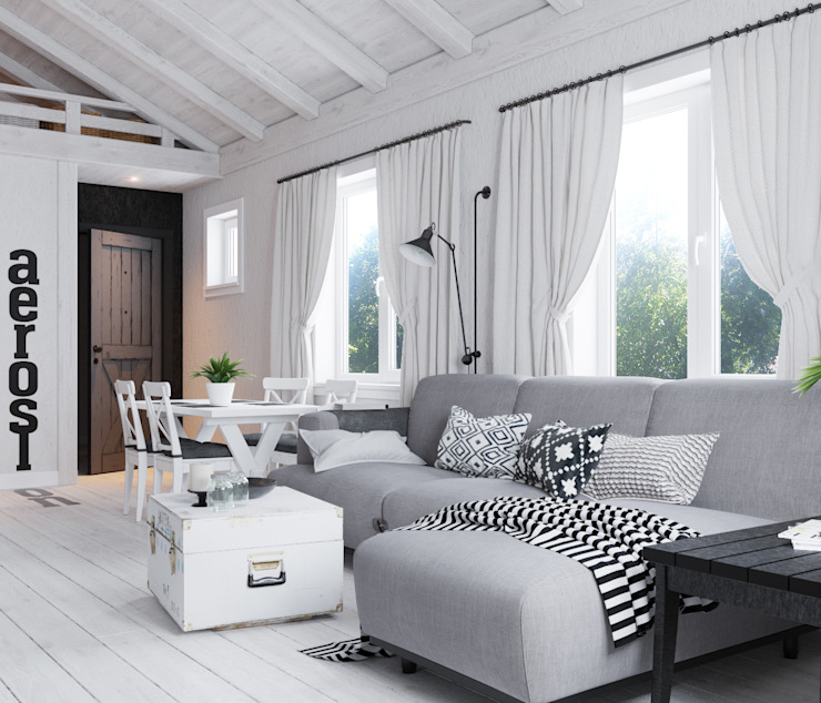 by Home in the Woods Scandinavian لکڑی Wood effect