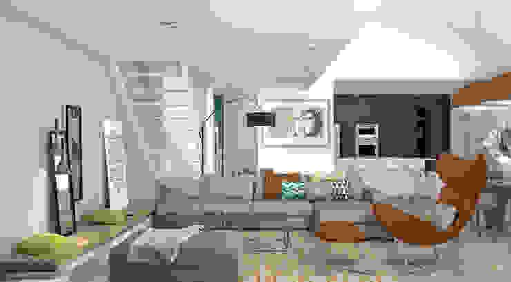 Rénovation d'une maison individuelle – Mornant Camille BASSE, Architecte d'intérieur Salon moderne