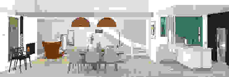 Rénovation d'une maison individuelle – Mornant Camille BASSE, Architecte d'intérieur Salle à manger moderne