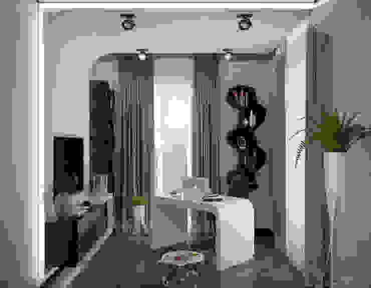Дизайн кабинета в доме по ул. Первомайская Рабочий кабинет в стиле минимализм от Студия интерьерного дизайна happy.design Минимализм