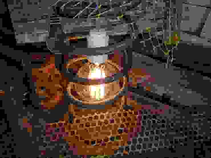 Lampara Industrial espiral Automovil Foco Edison:  de estilo industrial por Lamparas Vintage Vieja Eddie,Industrial Hierro/Acero
