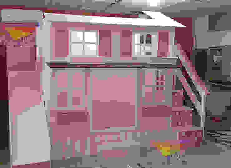 Hermosa casita de lunares de camas y literas infantiles kids world Clásico Derivados de madera Transparente