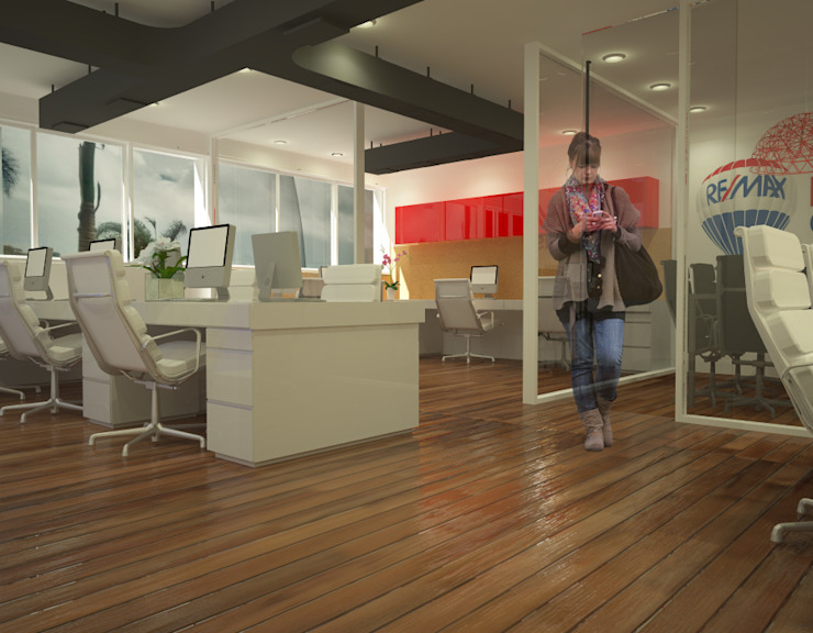 Oficinas REMAX Oficinas y comercios de estilo industrial de Proyectos JARQ Industrial