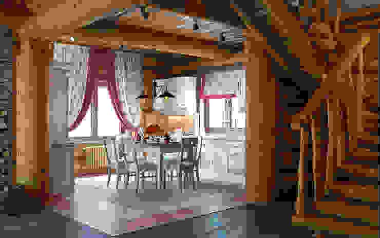 Pasillos, halls y escaleras rústicos de rudakova.ru Rústico Derivados de madera Transparente
