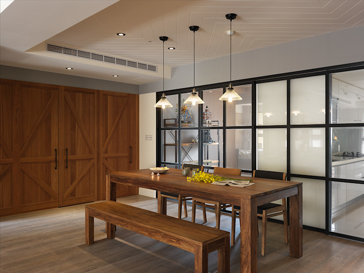 Terrazas de estilo  de 陶璽空間設計