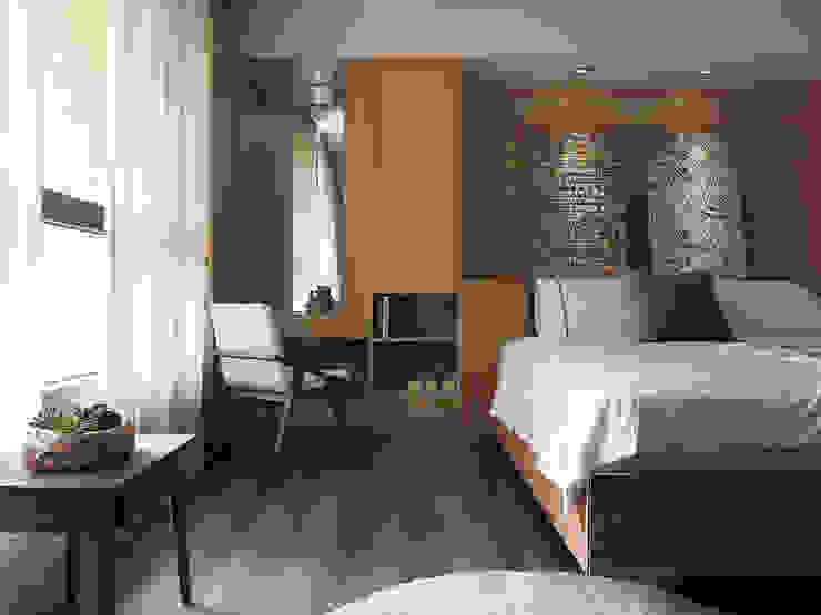 上城魅力,灰調美式 陶璽空間設計 臥室