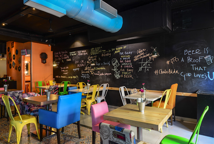 #Adda Eclectic style bars & clubs by Studio K-7 Designs Pvt. Ltd Eclectic