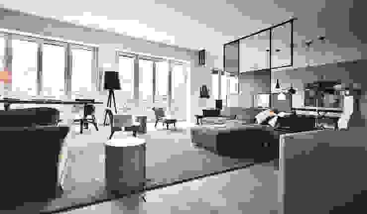 现代客厅設計點子、靈感 & 圖片 根據 andrea borri architetti 現代風