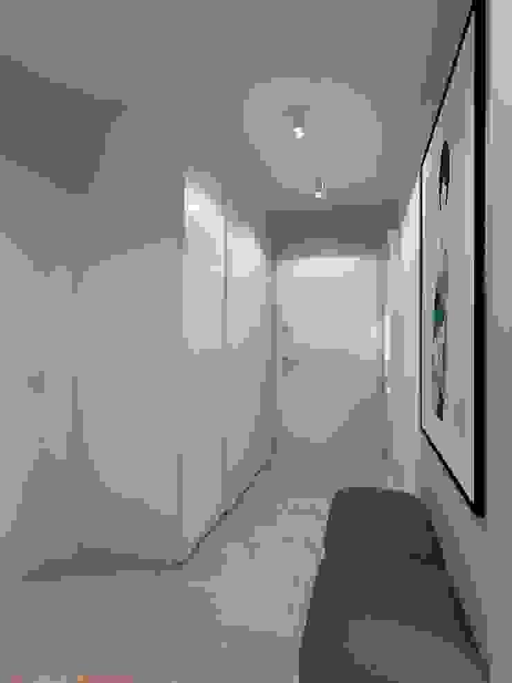 Couloir, entrée, escaliers minimalistes par living box Minimaliste