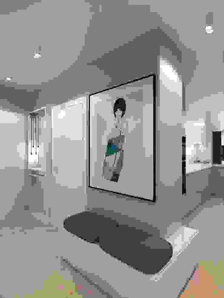 Pasillos, vestíbulos y escaleras de estilo minimalista de living box Minimalista