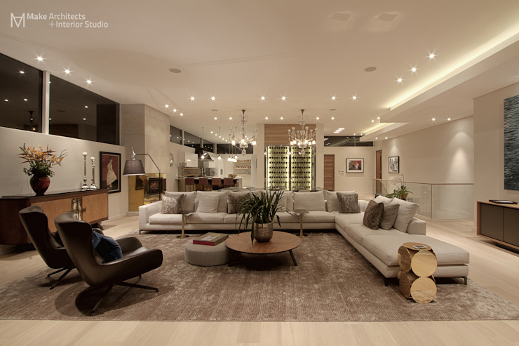 Hove Road Modern living room by Make Architects + Interior Studio Modern