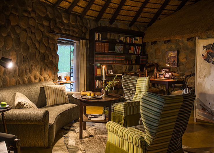 Game Lodge Revisited by David Strauss Interiors Rustic