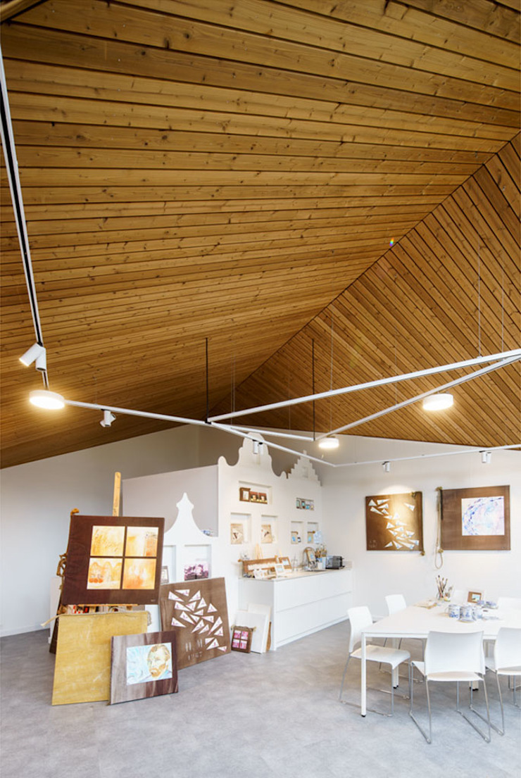 Interieur: Poolhouse / Atelier Moderne jachten & jets van [delacourt][vanbeek] Modern