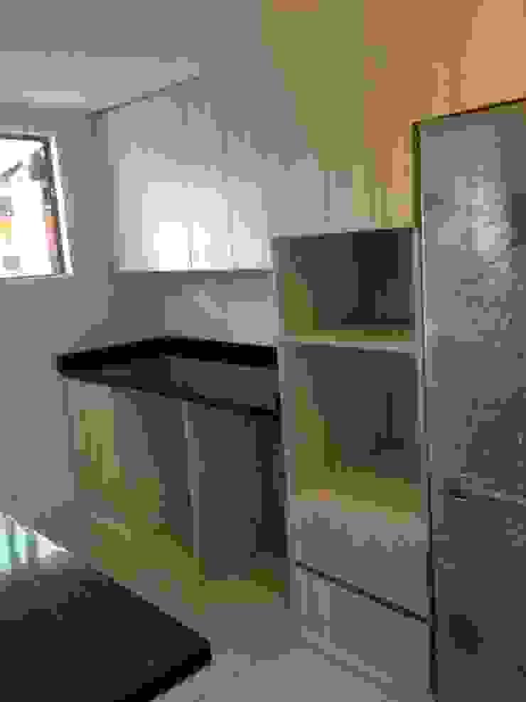 rack horno, espacios para lavadora y sacadora de N.Muebles Diseños Limitada Moderno Aglomerado