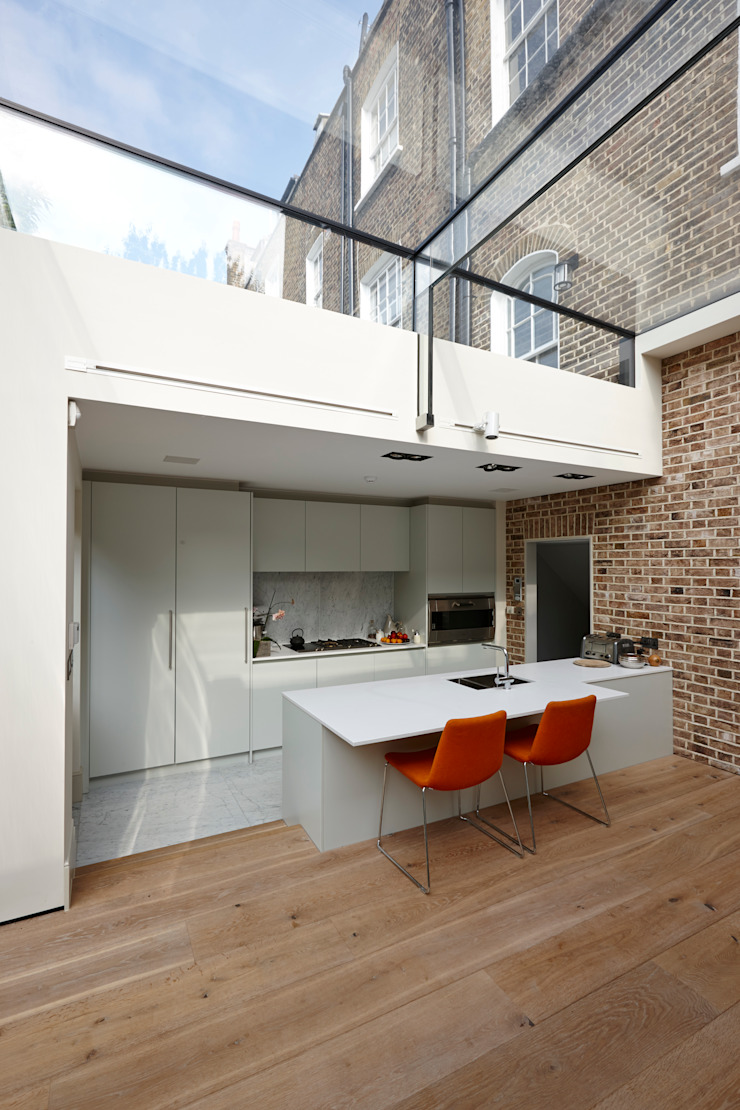 Internal photo Trombe Ltd Modern Kitchen Glass