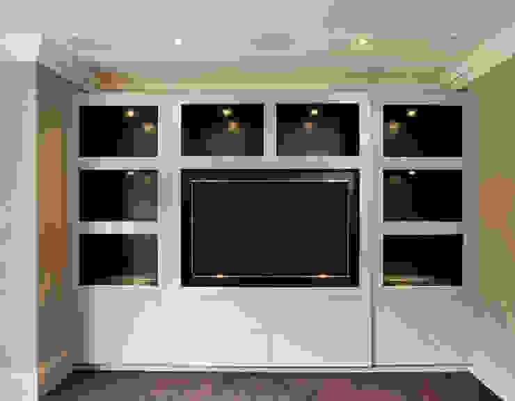Hadley Wood Refurb The Wood Works 现代客厅設計點子、靈感 & 圖片 木頭 White