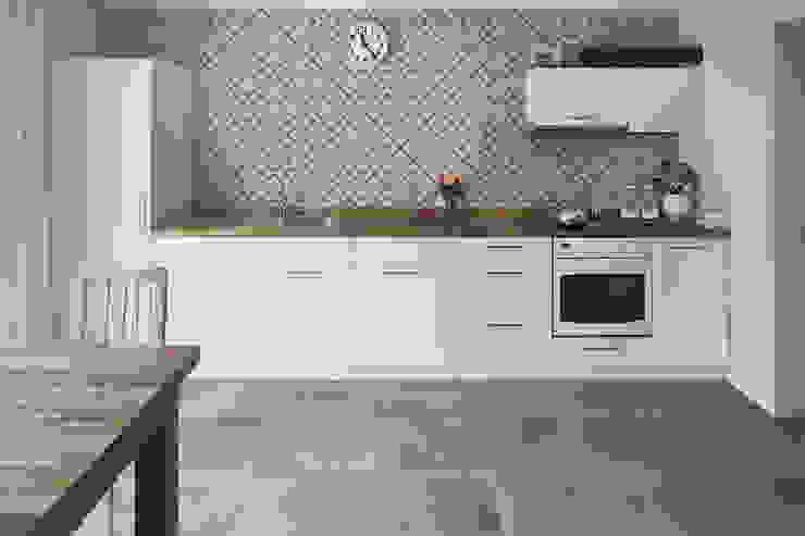 Gres effetto cemento grigio - AT 1002 Soggiorno in stile industriale di ItalianGres Industrial
