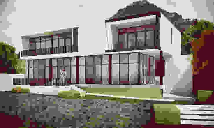Minimalist house by Estudio Volante Minimalist Stone