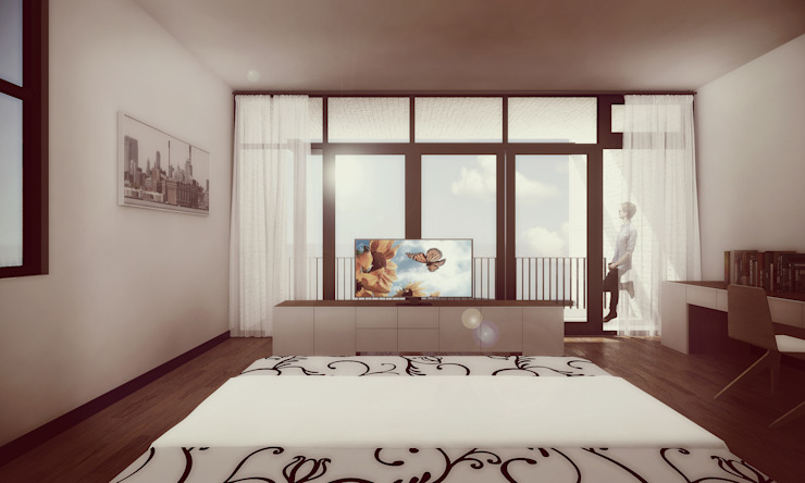 Minimalist bedroom by Estudio Volante Minimalist