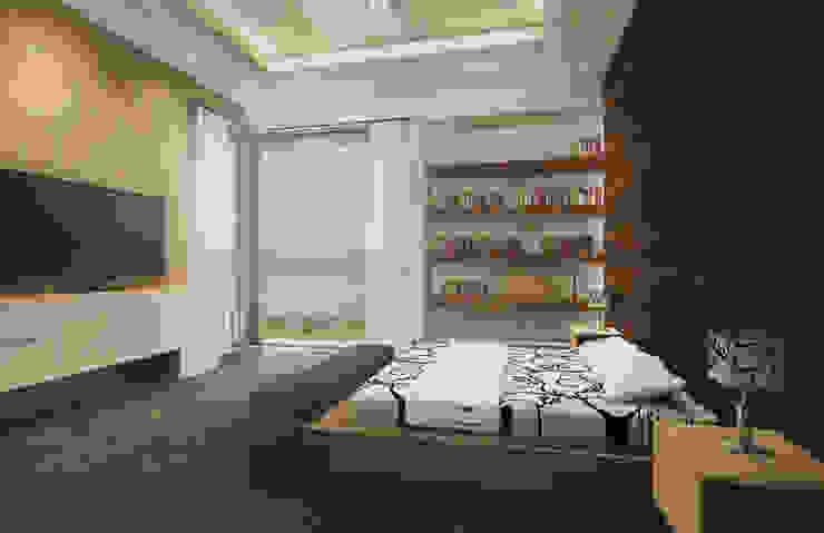 Recámara Principal Estudio Volante Dormitorios modernos Mármol Blanco