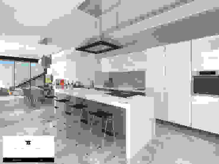 RESIDENCIA TF Cocinas modernas de TREVINO.CHABRAND | Architectural Studio Moderno