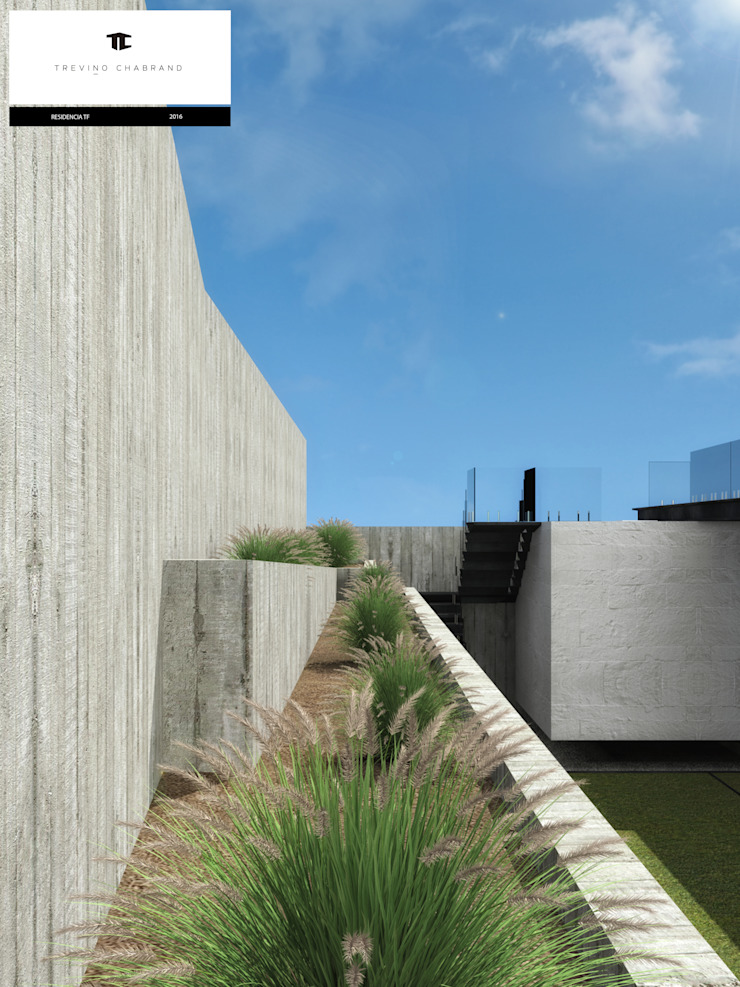 RESIDENCIA TF Jardines modernos de TREVINO.CHABRAND | Architectural Studio Moderno