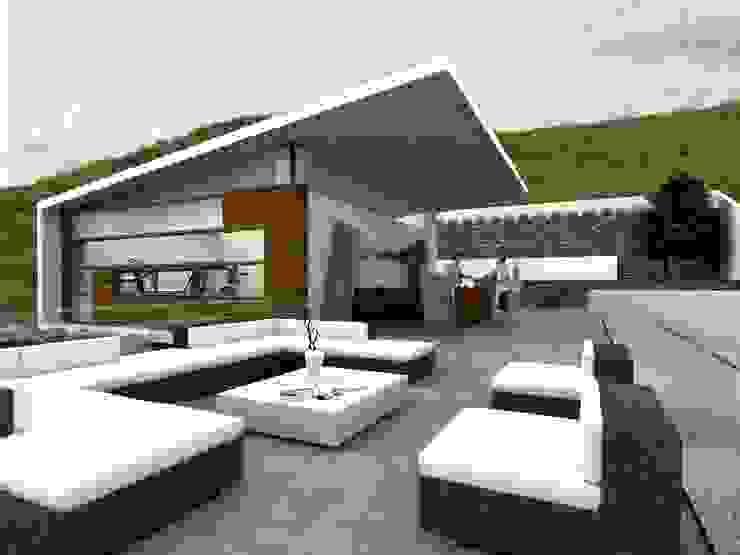 RESIDENCIA SIERRA ALTA Balcones y terrazas modernos de TREVINO.CHABRAND | Architectural Studio Moderno