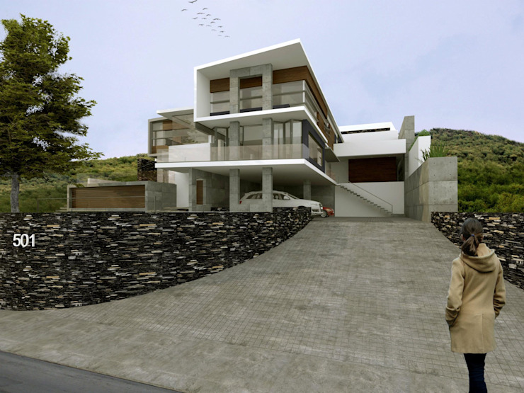 RESIDENCIA SIERRA ALTA Casas modernas de TREVINO.CHABRAND | Architectural Studio Moderno