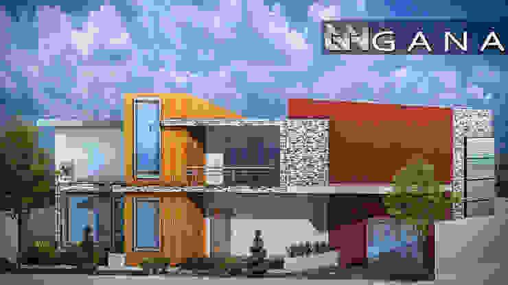 Casa A+ Grupo GANA, C.A. Casas modernas Concreto Blanco