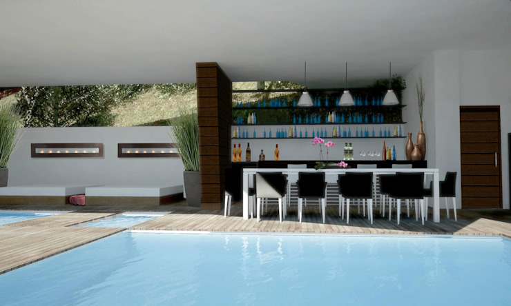 RESIDENCIA SELEKTO STUDIO Y HOME Albercas modernas de TREVINO.CHABRAND | Architectural Studio Moderno