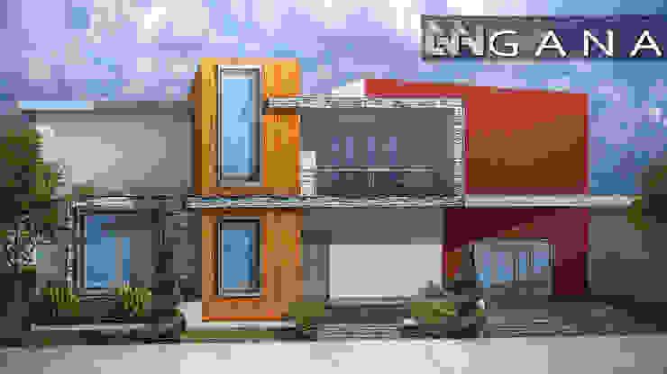 Casa A+ Grupo GANA, C.A. Casas modernas Madera Marrón