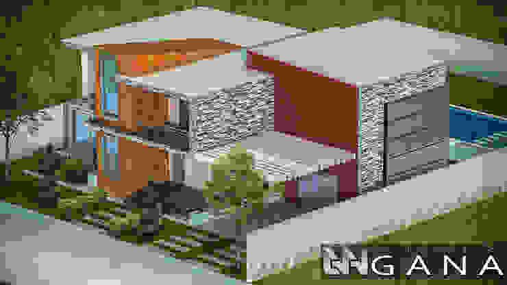 Casa A+ Grupo GANA, C.A. Casas modernas Concreto reforzado Blanco