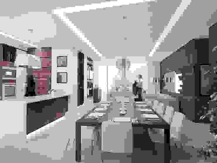 TORRE LAS FUENTES Comedores modernos de TREVINO.CHABRAND | Architectural Studio Moderno