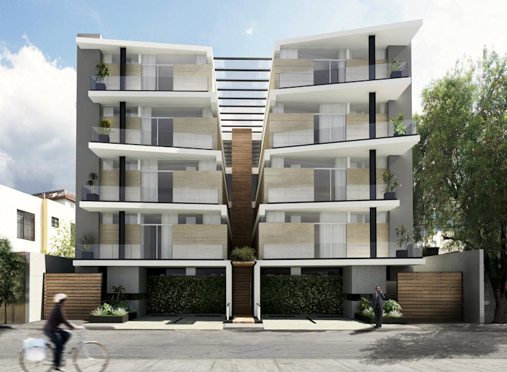 TORRE LAS FUENTES Casas modernas de TREVINO.CHABRAND | Architectural Studio Moderno