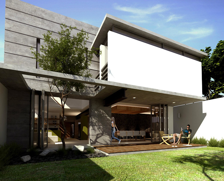 RESIDENCIA LOS LAGOS Casas modernas de TREVINO.CHABRAND | Architectural Studio Moderno