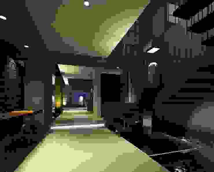 RESIDENCIA LOS LAGOS Pasillos, vestíbulos y escaleras modernos de TREVINO.CHABRAND | Architectural Studio Moderno