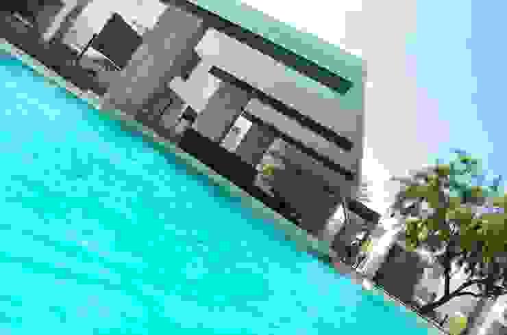 RESIDENCIA LAS MONTAÑAS Albercas modernas de TREVINO.CHABRAND | Architectural Studio Moderno