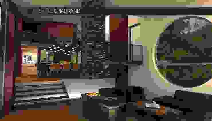 RESIDENCIA SELEKTO STUDIO Y HOME Salones modernos de TREVINO.CHABRAND | Architectural Studio Moderno