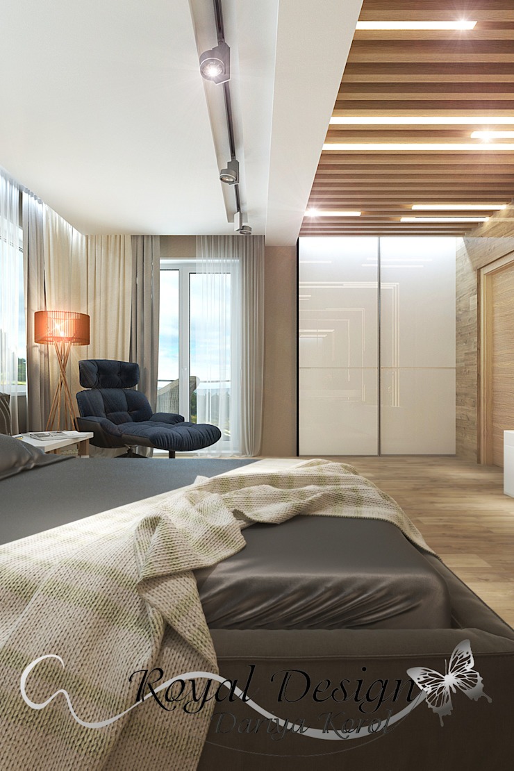 Your royal design Minimalist bedroom Grey