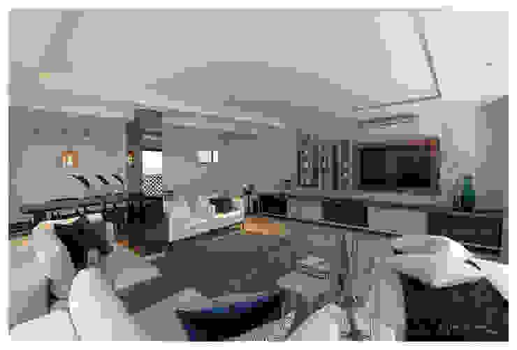 现代客厅設計點子、靈感 & 圖片 根據 Make Architects + Interior Studio 現代風