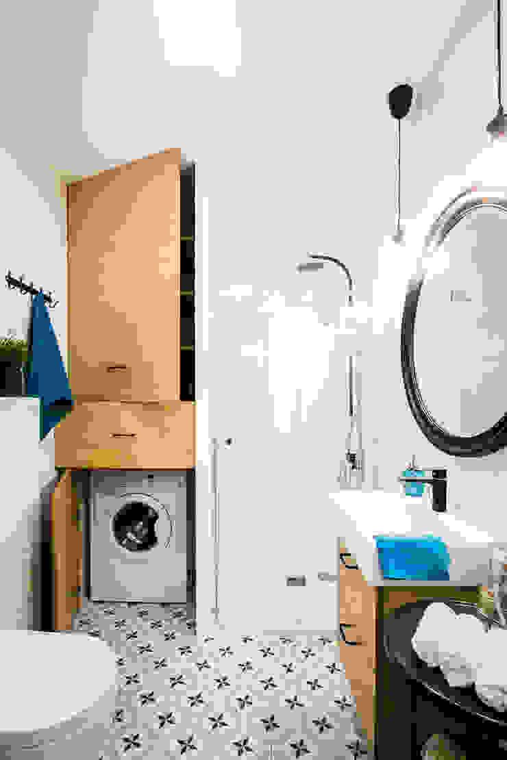 Przytulna kawalerka DreamHouse.info.pl Skandynawska łazienka