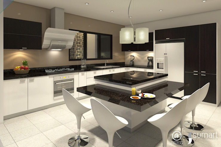 Cocina Principal Cocinas de estilo ecléctico de Arquitectura Positiva Ecléctico
