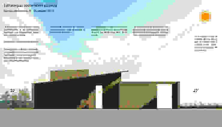Corte Bioclimático - Solsticio de Invierno :  de estilo  por Arquitectura Positiva ,