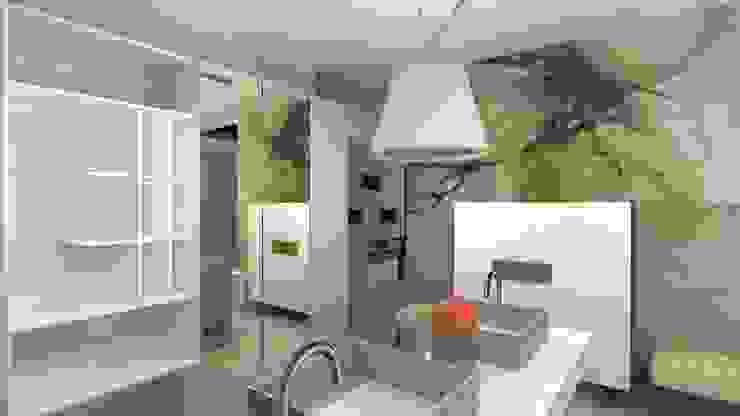 Sala de Banho com revestimentos especiais Banheiros clássicos por Talita Kvian Clássico Azulejo