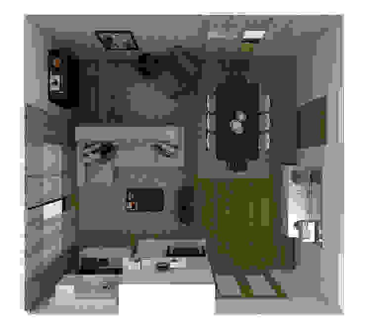 Stripes & Flower Living Room Salas de estar ecléticas por Sara Ribeiro - Arquitetura & Design de Interiores Eclético