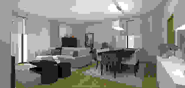 Stripes & Flower Living Room Salas de jantar ecléticas por Sara Ribeiro - Arquitetura & Design de Interiores Eclético