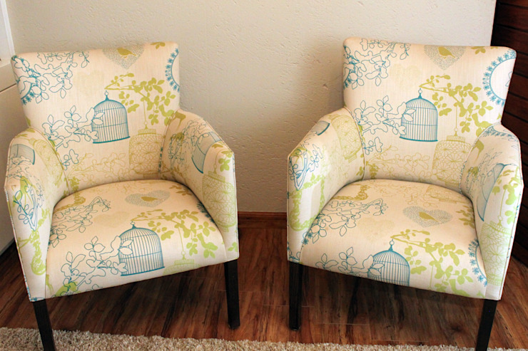 Study Chairs: eclectic  by Inside Out Interiors, Eclectic Cotton Red