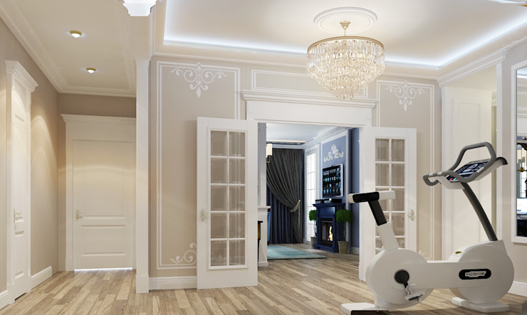 Classic style corridor, hallway and stairs by Vera Rybchenko Classic MDF