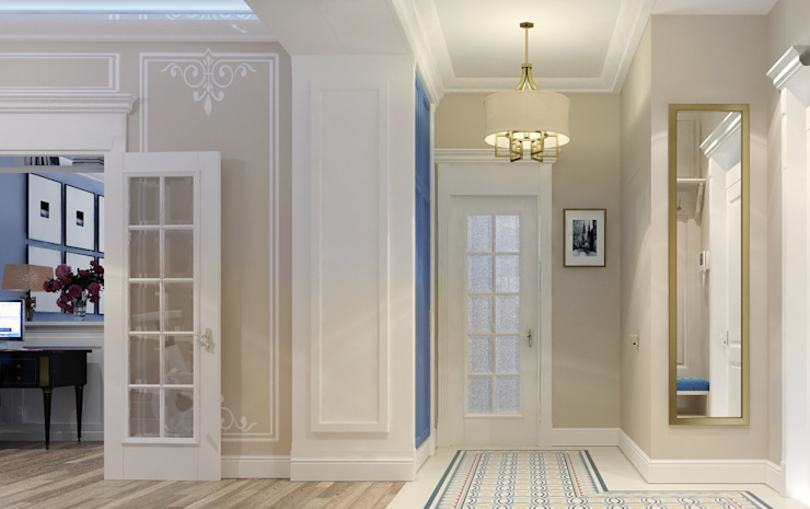 Eclectic style corridor, hallway & stairs by Vera Rybchenko Eclectic